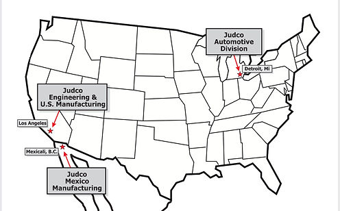 Judco Manufacturing Locations Map