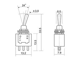 Toggle Switch Drawing