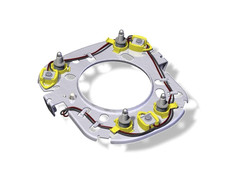 Steering Wheel Horn Plate with 3 Switch Harness