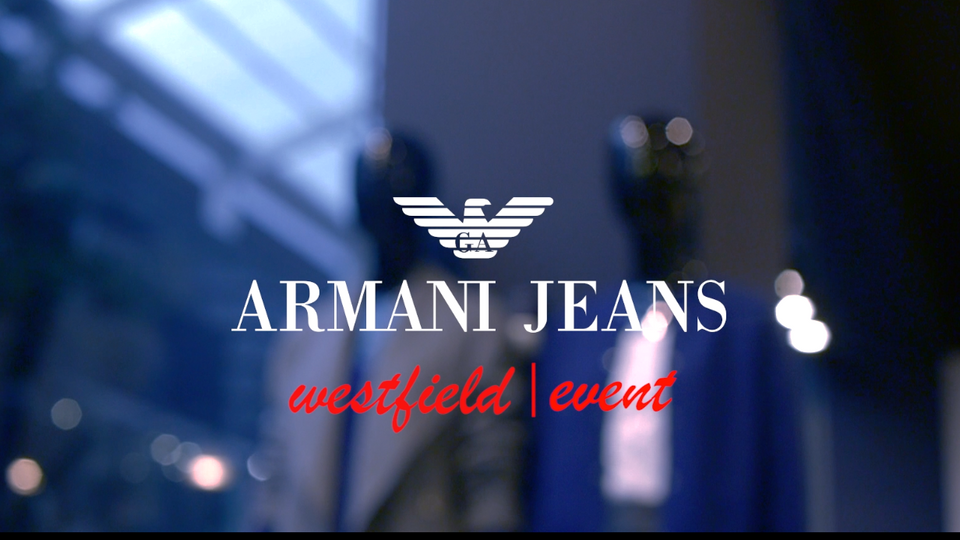 Armani Jeans event videographed by Jam Deluxe