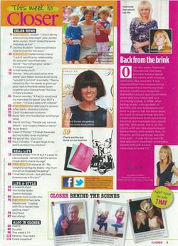 Danniella Westbrook in Closer Mag