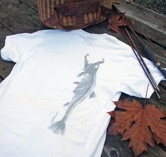 Killer Spawn Vertical Skeleton Short Sleeve Cotton Tee, White