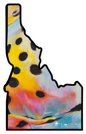 """Idaho State Trout Decal - 5.25"""" x 3.5"""""""