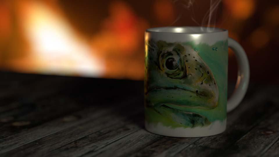 """""""Beach Comber"""" 11 oz. Ceramic Mug"""