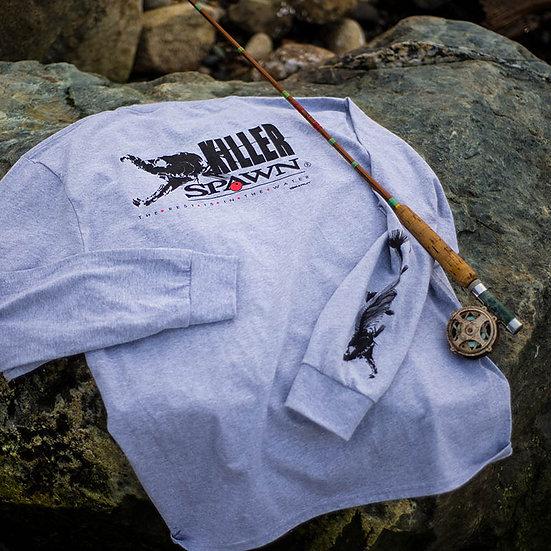 Killer Spawn 2 Long Sleeve Cotton Tee, Gray