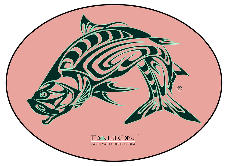 "Spirit Tarpon Decal, Pink - 6.5"" x 5"""