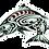 """Thumbnail: Spirit Salmon Decal, Die-cut - 6"""" x 4.5"""""""