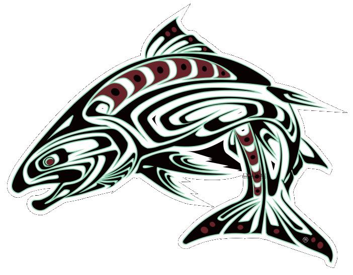 """Spirit Salmon Decal, Die-cut - 6"""" x 4.5"""""""