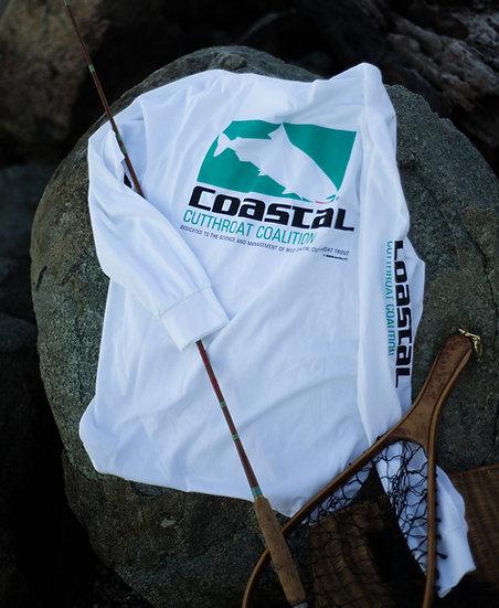 Coastal Cutthroat Coalition Long Sleeve Cotton Tee, White