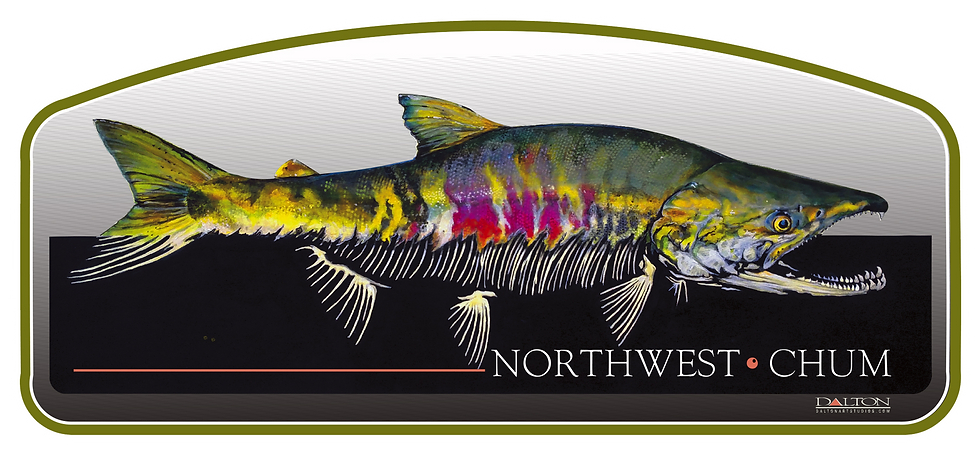 "Northwest Chum Decal, Small - 6.5"" x 3"""