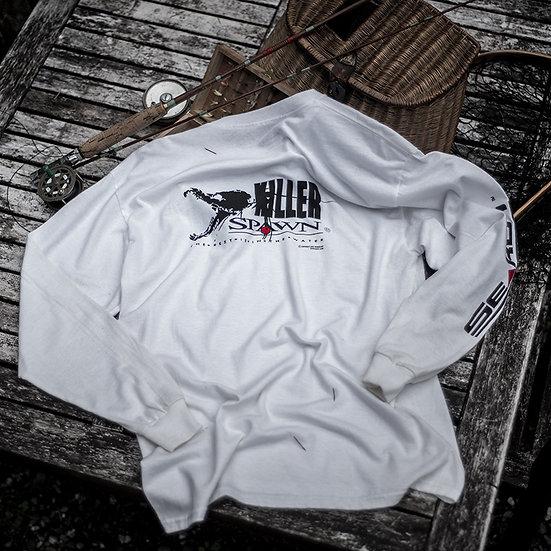Killer Spawn Long Sleeve Cotton Tee, White