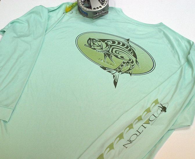 Spirit Tarpon Oval Long Sleeve Poly Tee, Mint