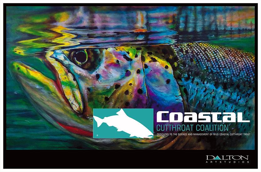 """Coastal Cutthroat Sip Decal - 4.25"""" x 6.25"""""""