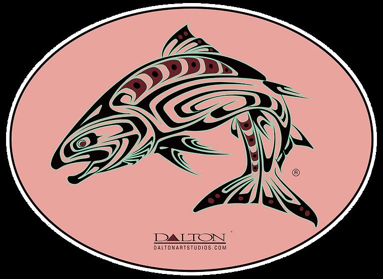 """Spirit Salmon Decal, Pink - 6.5"""" x 5"""""""