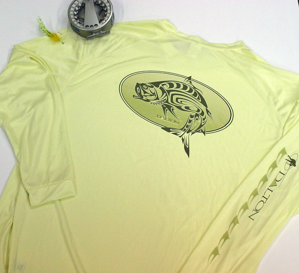Spirit Tarpon Oval Long Sleeve Poly Tee, Light Yellow