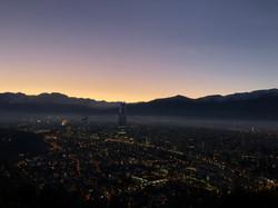 Blick auf Santiago de Chile