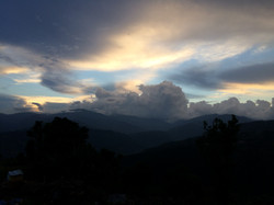 Abendstimmung in Nepal