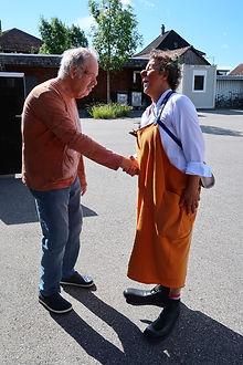 Clown Susi besucht das Wohnheim Kontiki in Subingen.