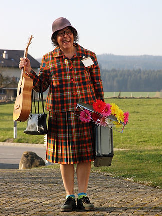 Clown Susi als Martha.