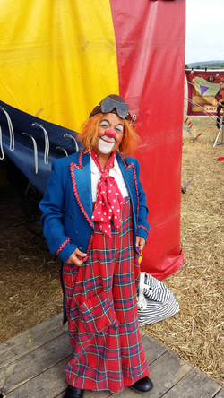 Clown Susi als Pausenclown