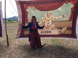 Clown Susi auf dem Filmset