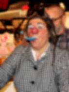 Clown Susi sorgt am Kundenevent für Stimmung