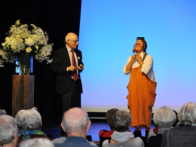 Clown Susi an der Fachtagung mit Fokus - COPD der Lungenliga Aargau