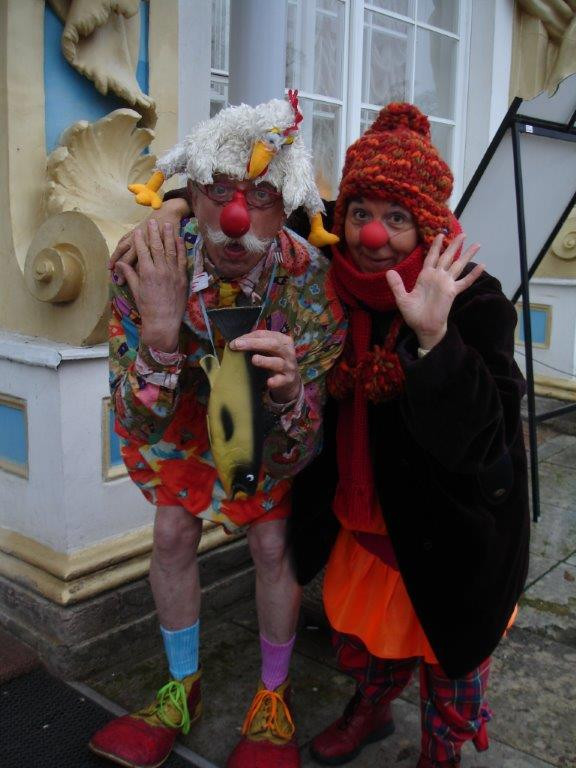 Patch Adams und Clown Susi