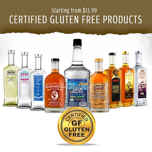 CERTIFIED GLUTEN FREE PRODUCTS - SPIRITS