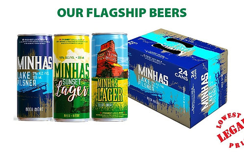 MINHAS FLAGSHIP BEERS, Brewery Fresh, All Natural