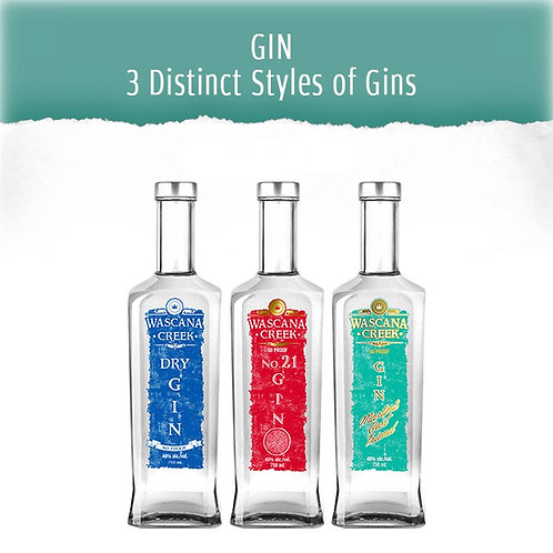 GIN - 3 DISTINCT STYLES OF GINS