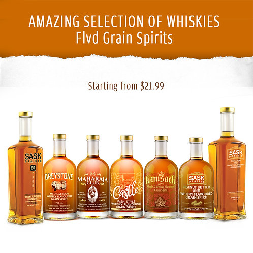AMAZING SELECTION OF WHISKIES - Flvd Grain Spirits