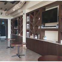 Bar sitting area ready