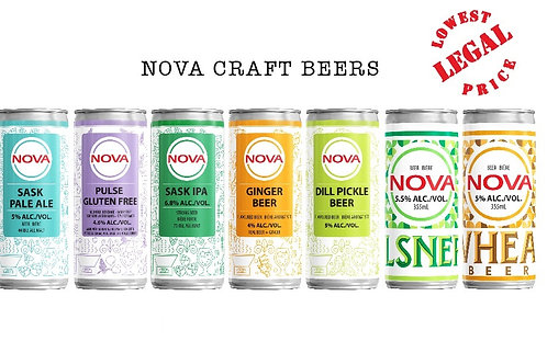 NOVA CRAFT BEERS, Brewery Fresh, All Natural