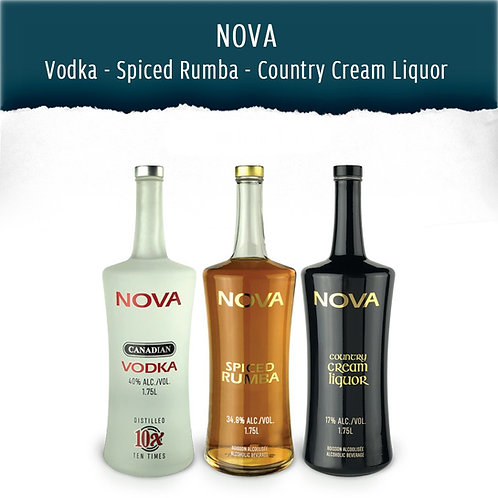 NOVA - Vodka, Spiced Rumba & Country Cream Liquor (1.75 L)
