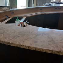 Reception counter almost done