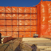 Wall finishes and protected from weather
