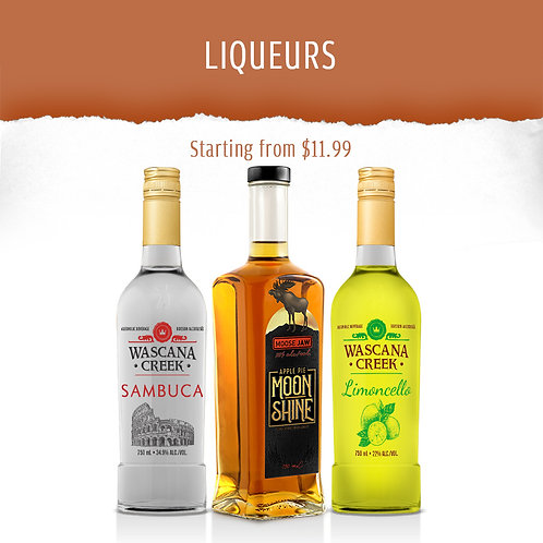 LIQUEURS, All natural, Made with cane sugar