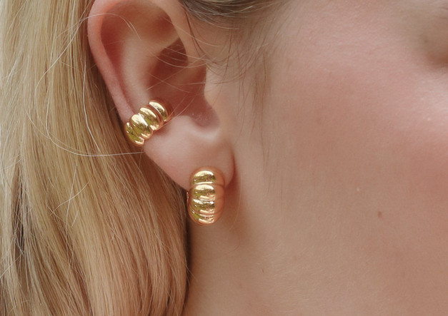Citrus Hoop Earrings and Citrus Ear Cuff