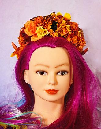 Autumn Butterfly Fantasy Ramhorn Headpiece