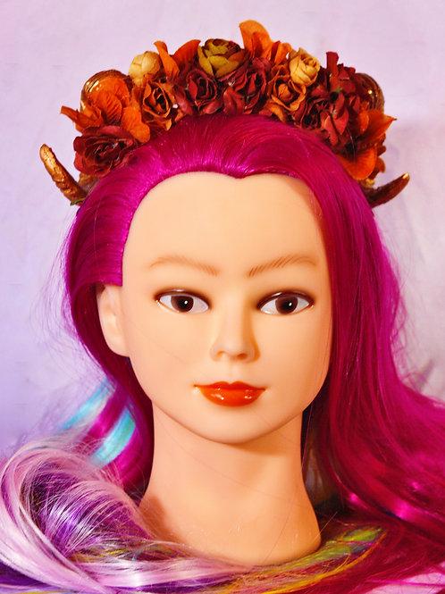 Autumn Crush Fantasy Ramhorn Headpiece