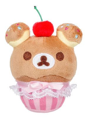 San-X Rilakkuma™Cupcake with Cherry Plush Keychain