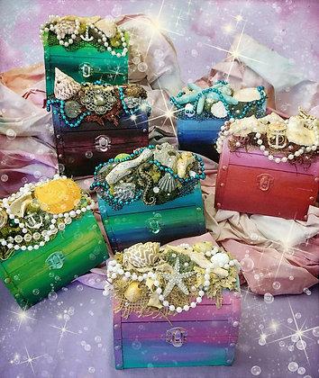 Custom Treasure Chest Wood Keepsake Box