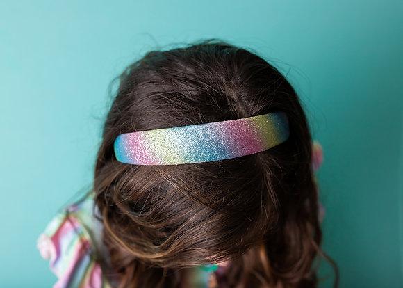 Light Rainbow Glitter Headband