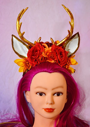 Fall Themed Stag Deer Fantasy Headpiece