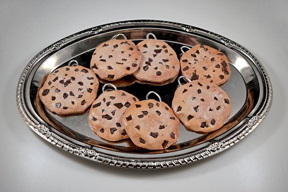 Fake Chocolate Chip Cookie Ornaments & Photography Props