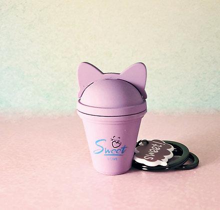 Light Up Sweet Cat Drink Keychain