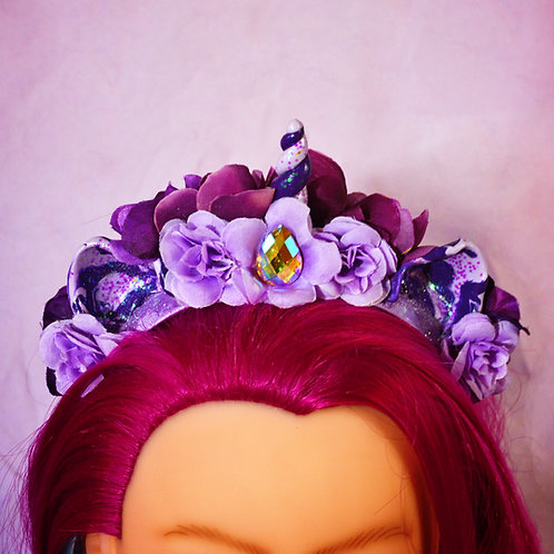 Lilac Princess Floral Unicorn Headpiece