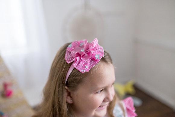 Pink Flower Kawaii Lolita Headpiece
