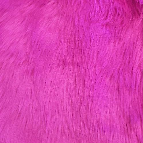 Custom Short Pile Fuschia Furry Fantasy Unicorn Headpiece Prop